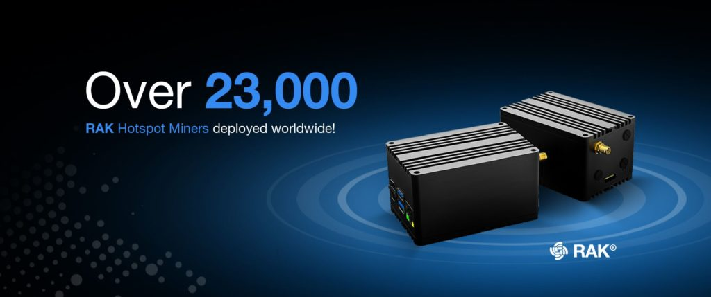 23 000 units strong with the rak hotspot miner